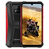 Ulefone Armor 8 Unlocked Rugged Phones, Helio P60 Smartphone 6.1 inch Display, 4GB+64GB 16MP Triple Camera, Android 10 4G Dual Sim Rugged Cell Phone, 5580mAh Battery NFC Fingerprint Face Unlock, Red