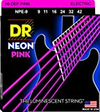DR String NPE-9 Neon Pink Jeu de cordes pour guitare electrique