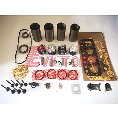 Para MITSUBISHI K4M revisión junta principal conrod cojinete de entrada válvula de salida pistón liner kit excavadora accesorios