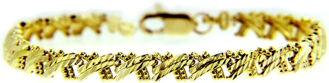YELLOW GOLD BRACELET - THE Super-cheap In stock Gold CRISS-CROSS Purity::
