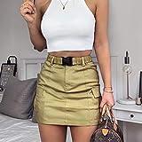 Faldas informales para mujeres, cinturones con hebilla de l�