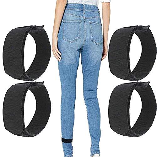 4/PK - Adjustable Elastic Women's Tucked in Boot Straps Boot Keeper Boot Holder Boot Straps, Women's Teen's Boot Straps Pant Ankle Straps - Hold Pants Down in Boots - Black