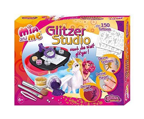 Knorrtoys GL7554 - GLITZA-Mia and me glitter studio met tijdelijke glittertatoeages in Mia and Me-stijl