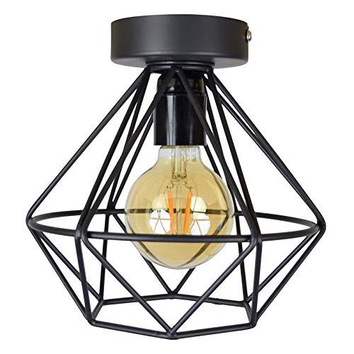 rban Interiors Wire Plafondlamp Zwart - Metaal - Ø22