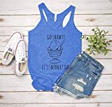 Go Shawty It's Sherbert Day, Women's Graphic Racerback Tank Top, Funny Gift for Her, Shirts with Sayings, Yoga Tee, Heather Gray or Royal Blue
