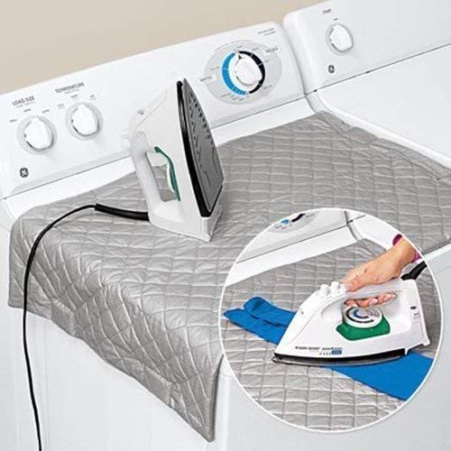 Zizzi - Ferro da stiro magnetico pieghevole con tappetino, per stirare in qualsiasi posizione