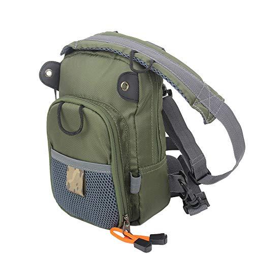 Kylebooker Fly Fishing Chest Bag Lightweight Waist Pack (Army Green)