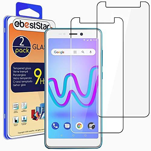 ebestStar - [2 Pack Cristal Templado Compatible con Wiko Jerry 3 Protector de Pantalla, Película Vidrio Protectora Ultrafina, Dureza 9H, Sin-Burbujas [Aparato: 148 x 72 x 9.1mm, 5.45'']