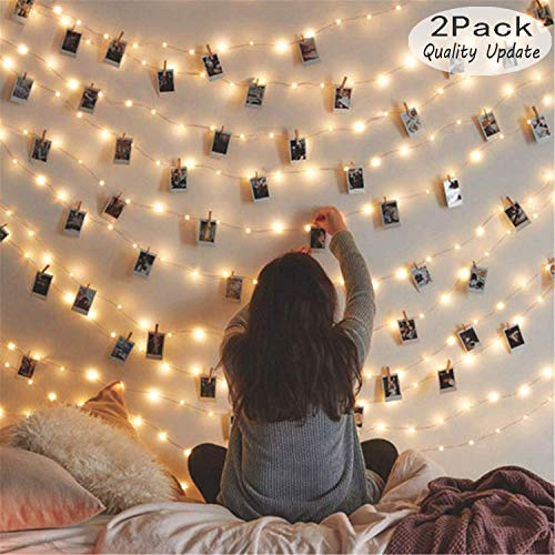[2 Pack] Fairy String Lights, 120LED 12M/40Ft 8 Modes...
