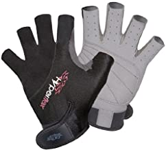 Hyperflex 3/4 Finger Gloves – Helps Protect Hands - Kayak Gloves for Kiteboarding, Canoeing and Stand-Up Paddle-Boarding - Padded and Vented for Durability and Comfort - Adjustable Wrist Cinch
