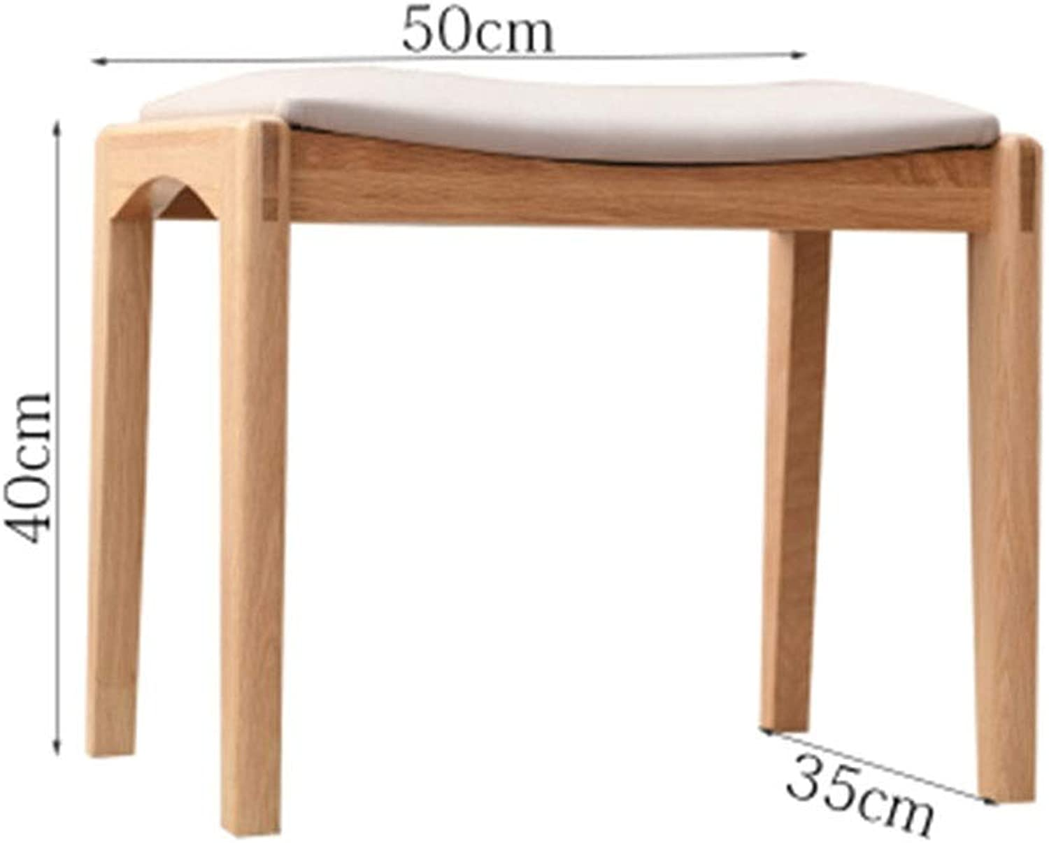 B.YDCM Wooden Bench- Solid Wood Stool Fabric Makeup Stool Dressing Stool Square Stool Creative Bench Computer Bench - Wood Bench (color   E)