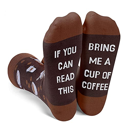 Zmart Coffee Socks Coffee Gifts for Men Boys, If You Can Read This Bring Me Coffee Socks Coffee...