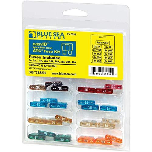 Blue Sea Systems 5290-BSS EasyID Illuminating ATC Fuse Kit