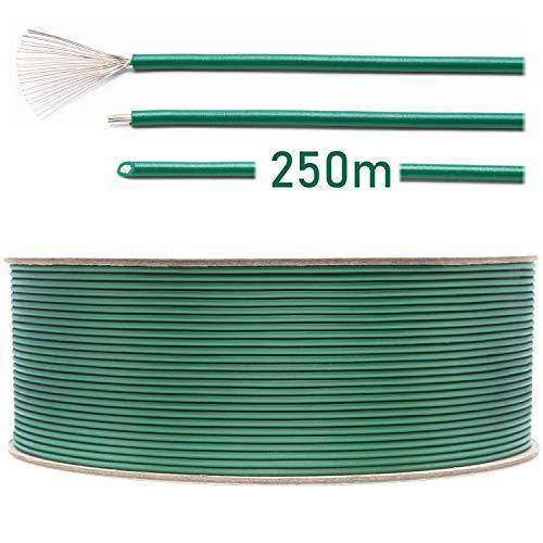 LOHAG - Universal Begrenzungskabel Begrenzungsdraht Kabel für Mähroboter Rasenmäher Rasenroboter Zubehör – hochwertig verzinntes und kupferplattiertes Aluminum - Ø2,7mm - 250m