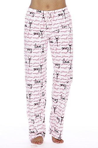 6324-10006-XL Just Love Women Pajama Pants   Sleepwear, Love Paris White, X-Large