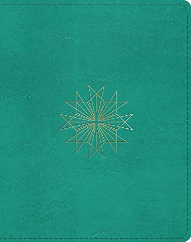 ESV Single Column Journaling Bible (TruTone, Teal, Resplendent Cross Design)
