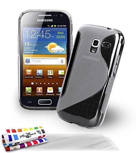 Muzzano Le S - Funda para Samsung Galaxy Ace 2, con 3 protectores de pantalla, transparente