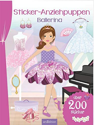 Sticker-Anziehpuppen Ballerina: Über 200 Sticker