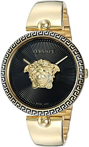 Versace Women's Palazzo Empire Swiss-Quartz Watch with Stainless Steel Strap, Gold, 16.7 (Model: VCO100017)