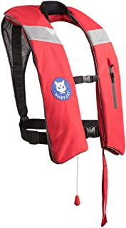 Night Cat [CE Approved Life Jackets for Adults Kayaking Boating Vests Inflatable Lifesaving PFD, Survival Preservers, Lightweight Premium Quality, Automatic and Manual, 150KG (330LB)