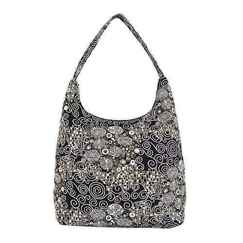 Borsa donna Signare alla moda a spalla borsa hobo Gustav Klimt (Il bacio)