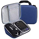 Case Compatible for Omron 10 Series Upper Arm Blood Pressure Monitor, Storage Bag Fits Charger & Cuff (Dark Blue)