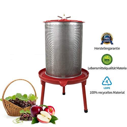 SQUEEZE master Hydropress Presse Obst und Wein Press für Apfelpresse Weinherstellung Apfelpresse Birnepresse Honeycomb Presse (40L)