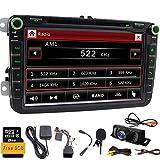 Doble DIN estéreo de 8 pulgadas pantalla táctil de DVD de coche en Dash GPS navegación USB/SD Autoradio Bluetooth Headunit para VW Golf 5 6 Polo Jetta TOURAN EOS PASSATCC TIGUAN SHARAN SCIROCCO Caddy