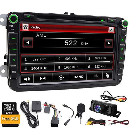 Double DIN GPS de voiture stéréo numérique 20,3cm/8\
