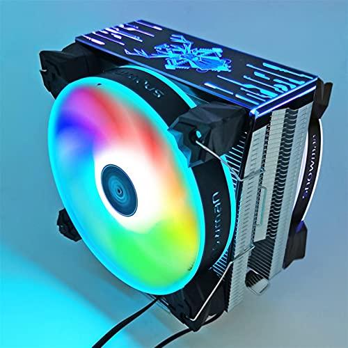 CPU Cooler 6 Tubos de Calor 120 mm 4 Pin PWM RGB para Intel LGA 1200 1150 1151 1155 2011 AMD AM4 AM3 CPU FANE DE ENFRIENCIA PC SILLAD