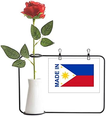 Beauty Gift Made in Philippines Country Love Artificial Rose Flower Hanging Vases Decoration Bottle