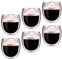 Feelino Rondini - 吹き出しサーマルガラス製6重層ティー/コーヒーグラス、「バブルサスペンド」効果、容量400 ml、ギフトボックス
