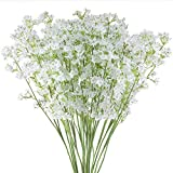 Hauserlin Bouquet di Fiori Artificiali in Seta da 40,6 cm, 20 Pezzi, Fiori di gipsofila re...