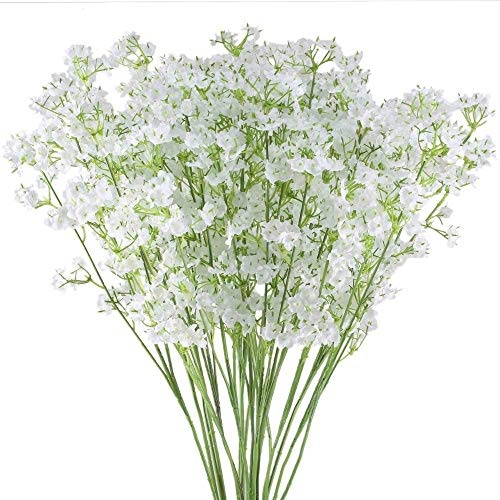 Ahsado 20 Stück Künstliche Blumen, Gypsophila, Filigran, 40cm Kunstblume Simulation Blumenstrauß für Hochzeit Wohnzimmer Hotel Tisch Dekoration