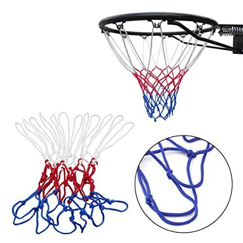 Romote Standard-Durable Nylon Basketball Goal Korb-Netz Netting Rot//Wei/ß Blau Sport