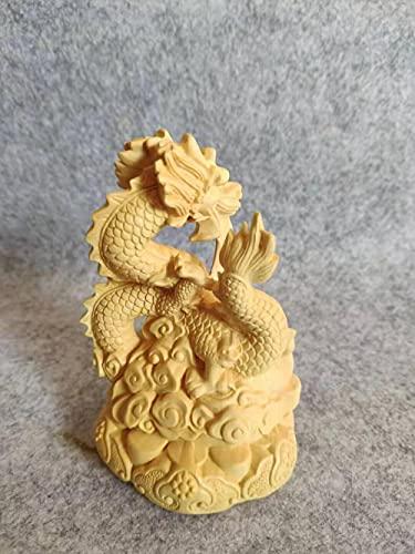 GZSBM Figurines para Jardín China Auspiciosa Talla De Madera Panlong Linda Decoración del Hogar