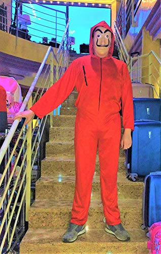 LBA Disfraz Inspirado en una Famosa Serie de televisión.No es el Original. Compuesto de Mono con Capucha y máscara. (Única (M/L-48)