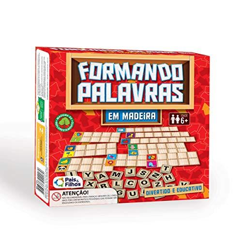 Brinquedo Pedagógico Madeira Formando Palavras Pais e Filhos