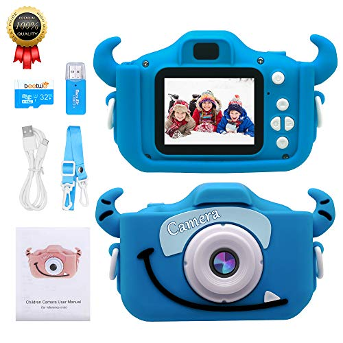 Kids Camera for Girls and Boys, 12MP Kids Digital Cameras 2.0 Inch IPS Screen HD Video Camcorder Best for 3-12 Year Old Kids Birthday with 32GB SD Card
