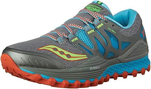 Saucony S10325-1, Zapatillas de Running Mujer, (Gris/Azulado/Najanja/Verde), 38 EU