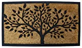PRIDE OF PLACE Chadderton Doormat | Tree Design | Heavy Duty Coir & Rubber Mat | Tough Coir Scrapers | Non-Slip Rubber Backing | Ideal for Outdoor Use | Waterproof | 40 x 70cm