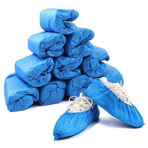 Home Care Wholesale Couvre-Chaussures 3g, 100 Pièces Antidérapants Couvre-Chaussures en Plastique Épaissi Jetables, Durables Couvre-Chaussures Imperméables, Poussière et Saleté