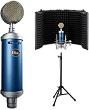 Blue Bluebird SL Large-Diaphragm Condenser Studio Microphone with Auray RF-5P-B Reflection Filter and RFMS-580 Reflection Filter Tripod Mic Stand Bundle