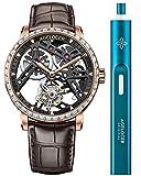 【オフィシャルストア】Agelocer メンズ 腕時計 トップブランド 手動巻き トゥールビヨン 機械式腕時計 男性的 ファッション ラグジュアリー【赠電動リューズ巻き機】(ACL:9001F2)