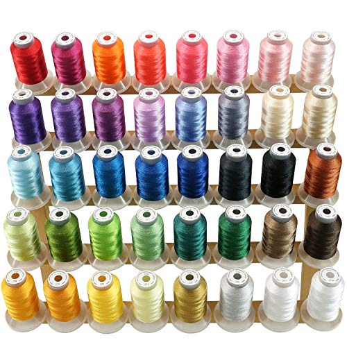 New brothread 40 Brother Couleurs Polyester Fil machine à broder pour Brother/Babylock/Janome/Singer/Kenmore Machine 500M (550Y) / bobine