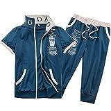 TOPSKY ジャージ 上下 プリント セット スポーツウェア メンズ 半袖 スウェット スポーツ レーニング ランニング 6 color