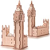 3D Assembly Wooden Puzzle Laser-Cut Locomotive Kit DIY Brain Teaser Games Birthday Gifts for Kids Teen Boys Adults, Home Decoration-Educational Toy for Christmas (Big Ben)