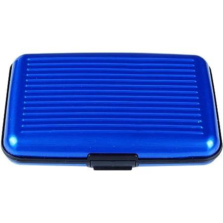 New Aluminium Credit Card Wallet Holder RFID Blocking Waterproof Box, Blue
