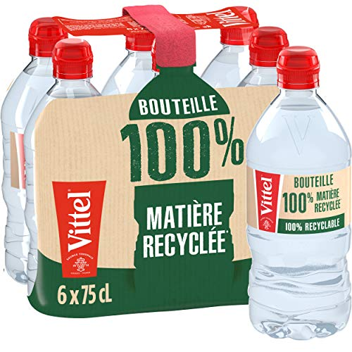 Vittel Mineralwasser 6 PET-Flaschen x 75 cl