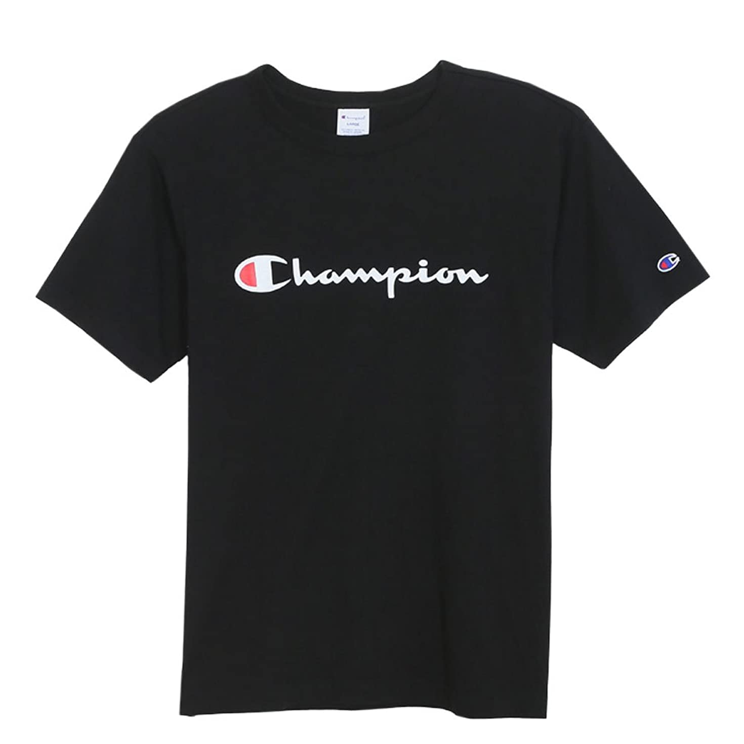 旋回議論する怖がって死ぬ(チャンピオン) Champion メンズ 半袖 Tシャツ 2019SS ベーシックスタイル C3-P302 Black ブラック